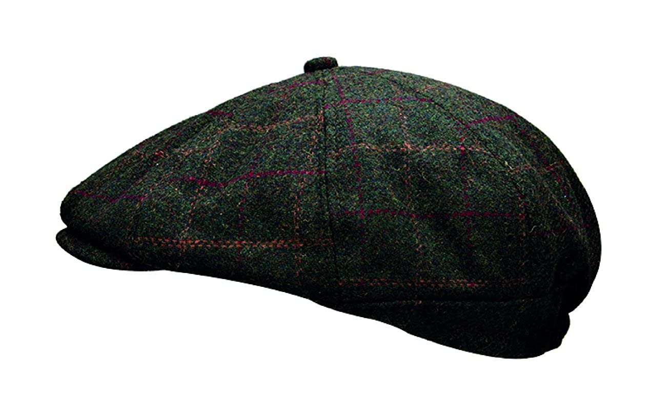 Heritage Traditions Green Window Tweed Peaky Blinder Cap Hat HAT1109