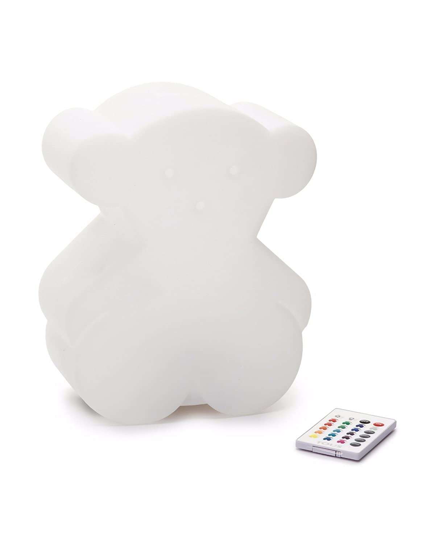 Tous Baby Lámpara de Noche en Forma de Oso, 3 watts, Blanco Semitransparente, 19.6 x 24.5 x 11 cm