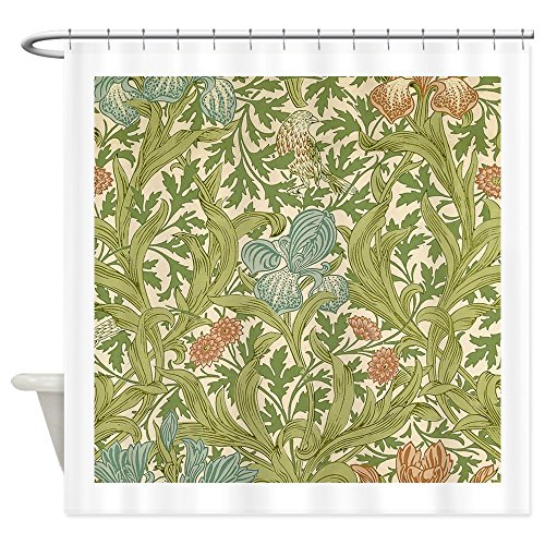 CafePress William Morris Iris Decorative Fabric Shower Curtain (69
