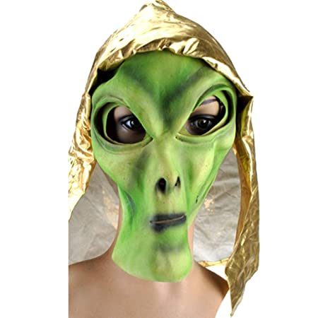 TINGSHOP Máscara De Látex Extraterrestre, OVNI De Látex Máscara ...