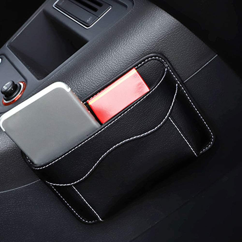 L-DiscountStore Car Side Pocket Organizer Auto Seat Pockets PU Leather Pen Phone Holder Tray Pouch Used for Car Door Window Console Seat