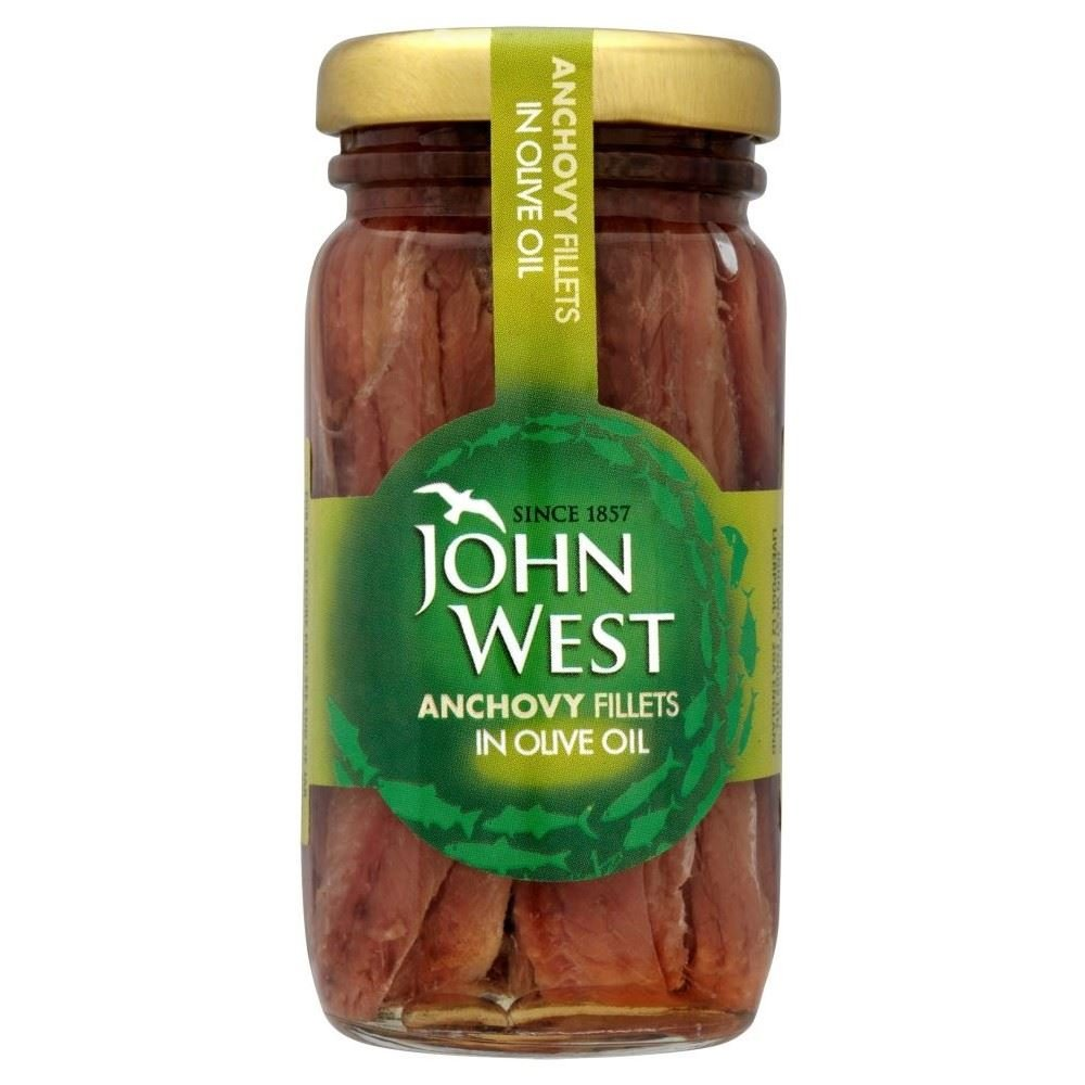 John West filets d'anchois à l'huile d'olive (liste 100g) - Paquet de 2