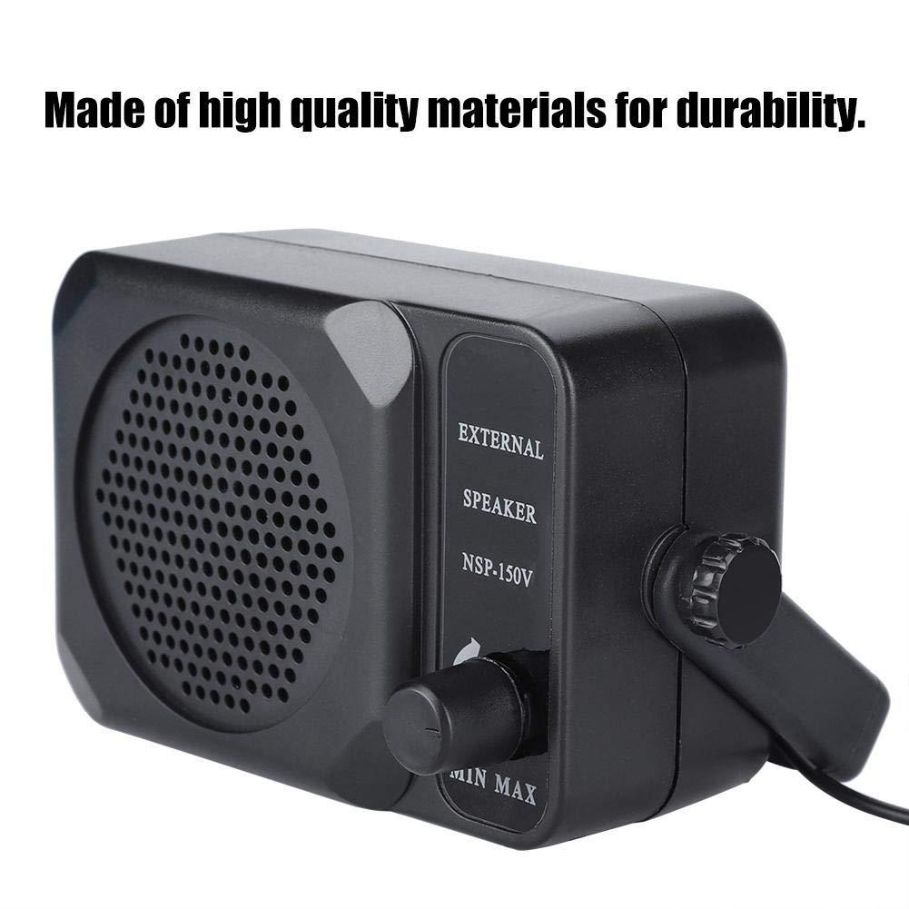 fosa Portable Car External Speaker Mobile Car Radio External Speaker with 4 Meter Line for Yaesu Kenwood Icom FT-7800R FT-8900R TM261 Car Audio Speaker