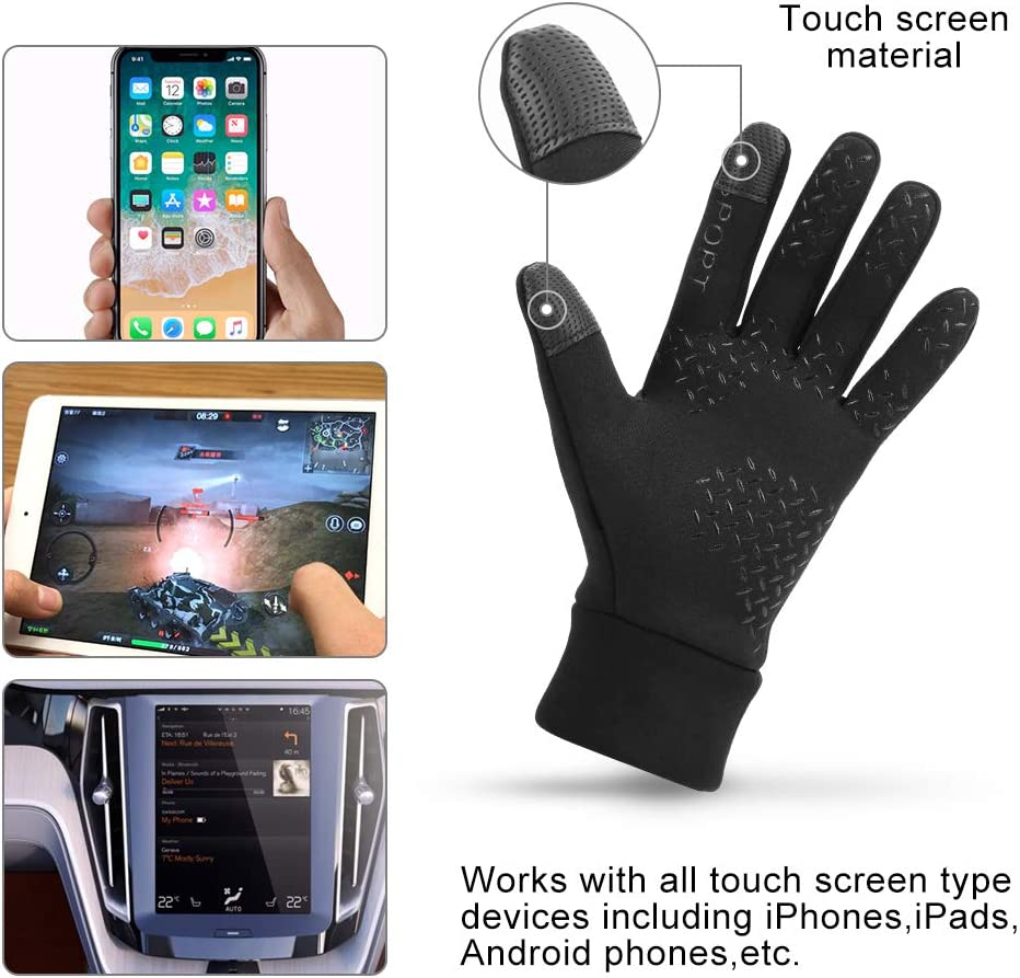 Nasharia Touch Screen Anti-slip Gloves Winter Warm Windproof and Waterproof Gloves for Cycling Biking Sporting Driving Men and Women