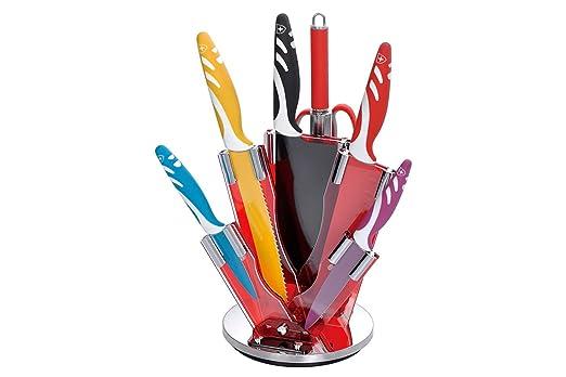 47 opinioni per Coltelli MC Garante con ceppo girevole set 8 pezzi, super taglienti, coltelli