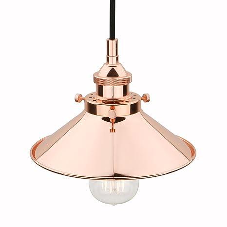 Pathson 21.6cm Lámpara Industrial Vintage E27 Iluminación ...