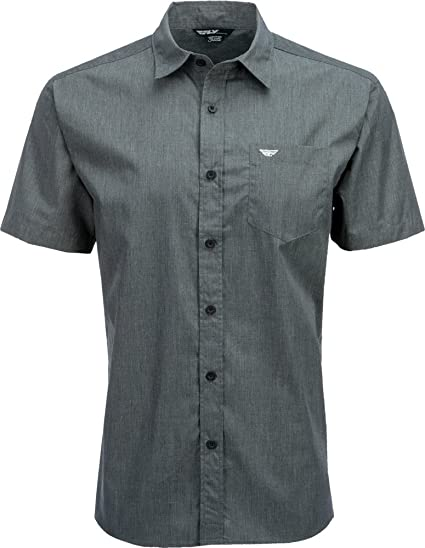 cdea59e68 Amazon.com: Fly Racing Unisex-Adult Button Up Shirt Dark Grey Large:  Automotive
