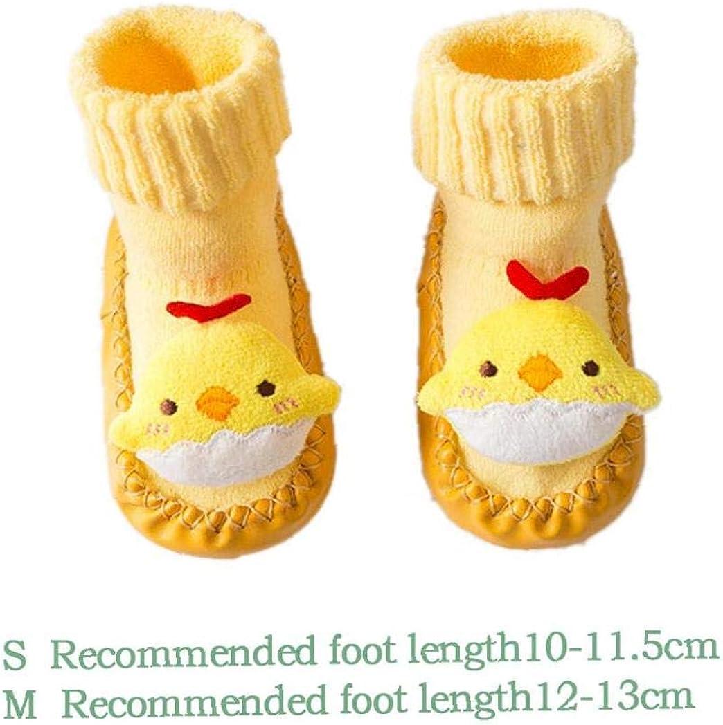 1 Pair Baby Socks Shoes Anti Slip Sock Leather Sole Socks Boots Cartoon Slipper Socks for Kids Toddlers Newborns