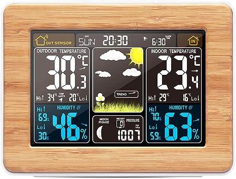 Externe Interne Thermomètre numérique avec Externe Capteur et Frost alarme.