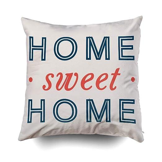 GHEDPO Home Sweet Home - Funda de cojín para sofá o casa ...