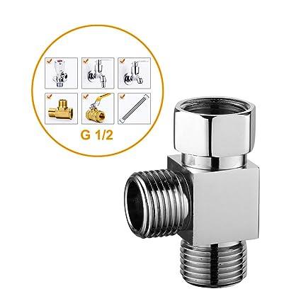 2 Way Shower Diverter Valve.Shower Arm Diverter Shower System Component Diverter Valve