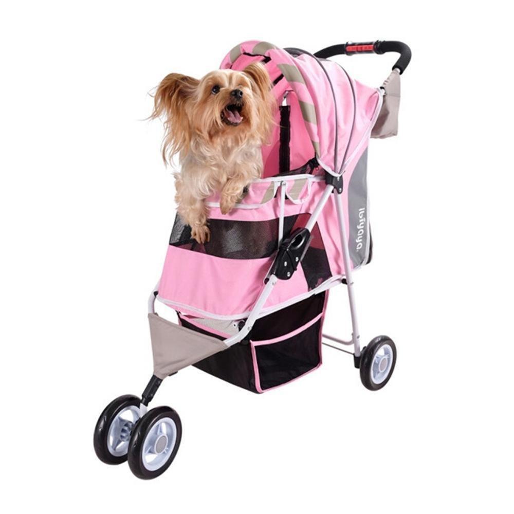 A Daeou Pet StrollerWashable folding Cat Dog cart Oxford cloth Cart