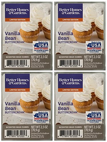 Better Homes and Gardens Vanilla Bean Buttercream Scented Wax Cubes - 4-Pack ()