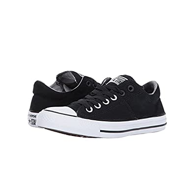 b962498d681978 Converse Women's Chuck Taylor All Star Madison Ox Basketball Shoe  Black/Black/White 5