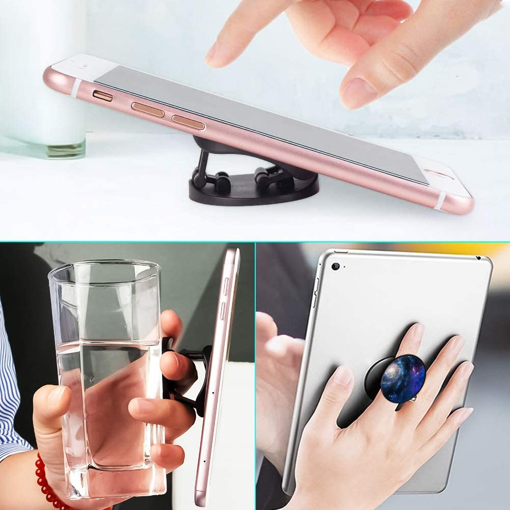 Elephant Multi-Function Mounts and Holder Three Pack Metal Phone Ring Stand for Cellphones Smartphones and Tablets