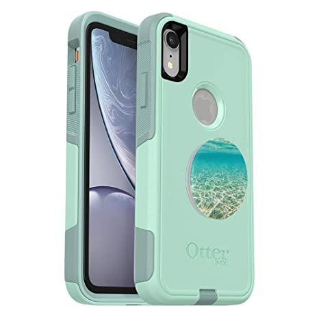 quality design b347f 4d766 OtterBox Commuter Series Case for iPhone XR – (Teal) + PopSockets PopGrip:  Collapsible Grip & Stand for Phones and Tablets – (Color Burst Gloss)