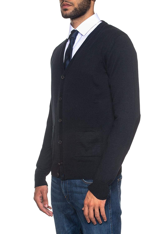 Peuterey Cardigan Bottoni Berties Blu Cotone Uomo