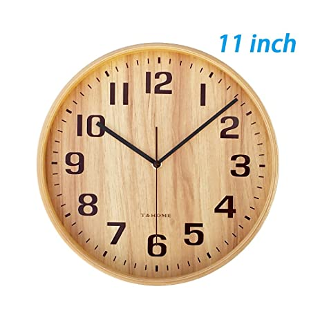 Awesome Tu0026HOME 11 Inch Wall Clock And Wall Clocks Battery Operated Silent Clock For  Bedroom U0026