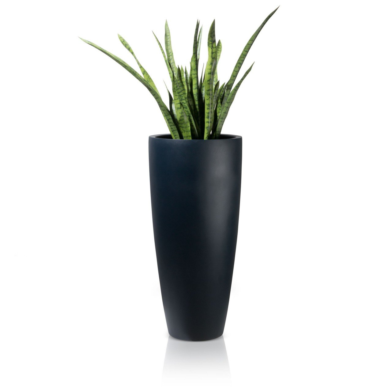 pflanzk bel blumenk bel puro 100 blumentopf fiberglas 47x47x100 cm farbe schwarz matt. Black Bedroom Furniture Sets. Home Design Ideas