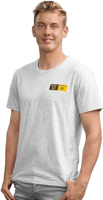 Borussia Dortmund Camiseta del BVB con Escudo de la Ciudad (Gris Plateado)