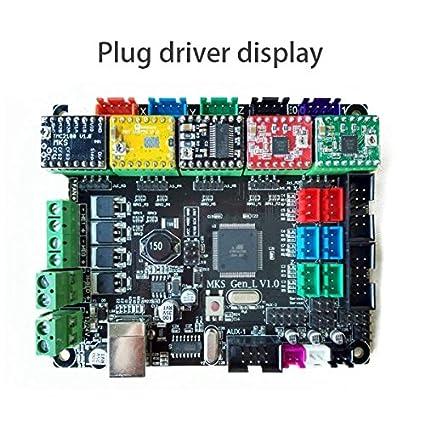 mks gen l  : SODIAL MKS Gen L V1.0 Controller PCB Board Integrated ...