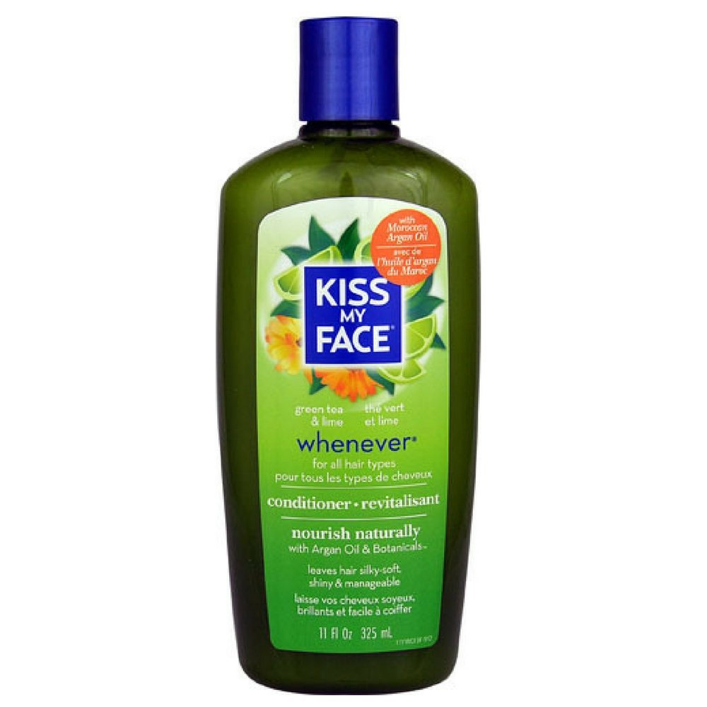 Kiss My Face Whenever Conditioner, Green Tea & Lime 11 oz (Pack of 3)