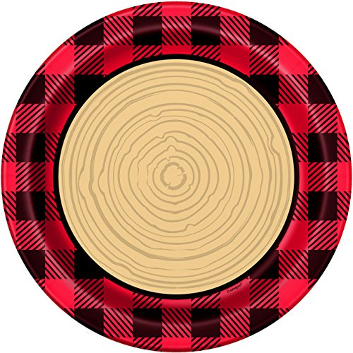 Unique Plaid Lumberjack Party Bundle | Luncheon & Beverage Napkins, Dinner Plates, Table Cover, Cups | Great for Country/Rustic Birthday Themed Parties by Unique (Image #7)