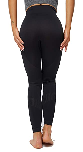 Amazon.com: Leggings de cintura alta sin costuras, para ...