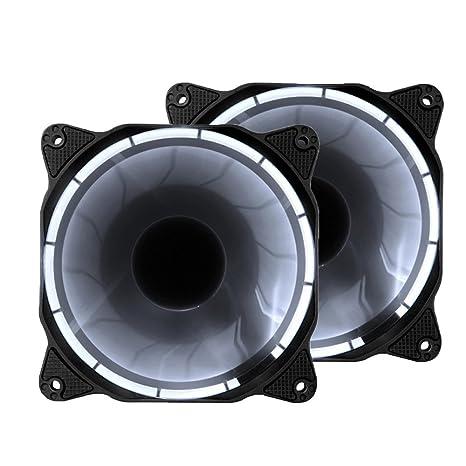 EZDIY-FAB 120mm Ventilador silencioso LED de 3 Clavijas para PC, refrigerador de la