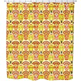 Uneekee Popocatepetls Friends Shower Curtain: Large Waterproof Luxurious Bathroom Design Woven Fabric