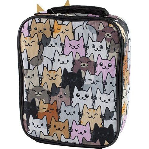 [Accessory Innovations Fashion Kitty Cats Insulated Lunch Box] (Kitty Accessory Kit)