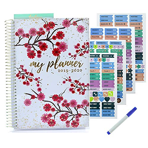 (Planner 2019 2020 | Weekly Monthly Planner with Stickers - Achieve Your Goals and Improve Productivity - Busy Bee Planners)
