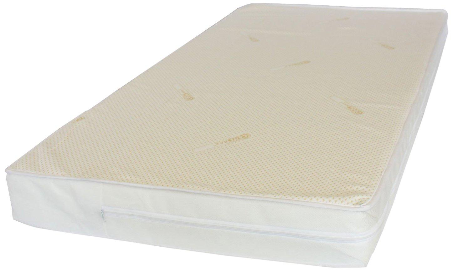 126 x 63 x 10 (Size 300) NightyNite® Superstart Sprung Cot Mattress, luxury Microfibre Cover, Waterproof Protection luxury Microfibre Cover SSCLC5