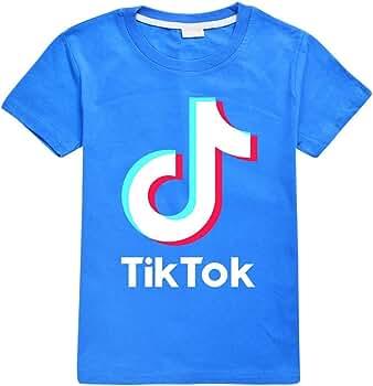 Camiseta de algodón suave TIK Tok, unisex, para niños, ropa de verano Azul azul 3-4 Años: Amazon.es: Ropa y accesorios