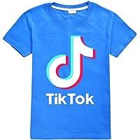 Camiseta de algodón suave TIK Tok, unisex, para niños, ropa de verano