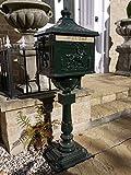 Post Box - Victorian Style Freestanding Aluminium Letter Box In Green