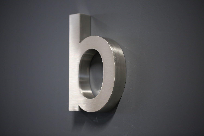L/üllmann Hausnummer Premium Edelstahl in 3D Design Arial ALLE Zahlen H20cmxT3cm V2A TOP Arial 20cmx3cm Nr.2