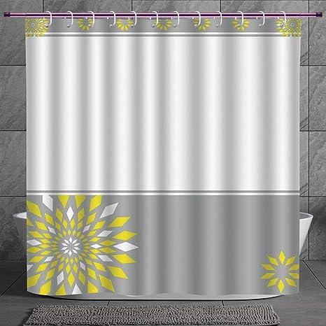 Geometric Shower Curtain Futuristic Digital Print for Bathroom