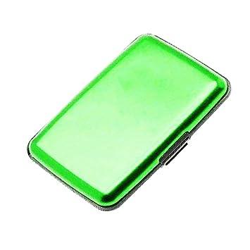 Producto nuevo de aluminio Aluma tarjetas de crédito tipo cartera en verde: Amazon.es: Hogar