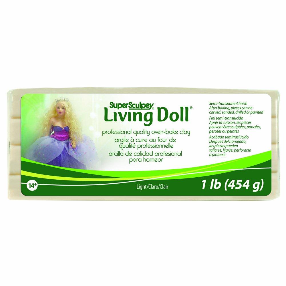 Super Sculpey Living Doll Clay 1 Pound-Light ZSLD-3