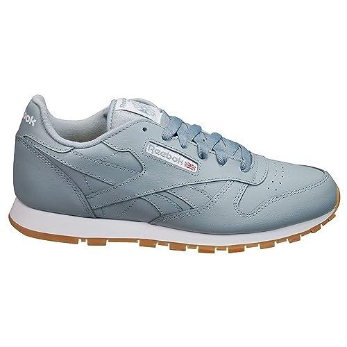 Reebok Classic Leather, Zapatillas de Running Unisex niños, Gris (Meteor Grey/White-Gum), 34.5 EU: Amazon.es: Zapatos y complementos