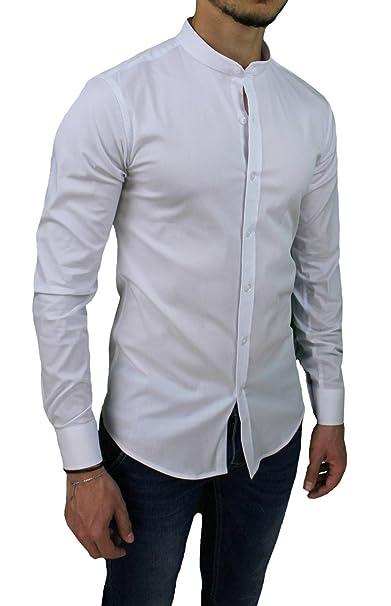 competitive price f169f dae84 Camicia uomo slim fit bianca casual in cotone con colletto ...