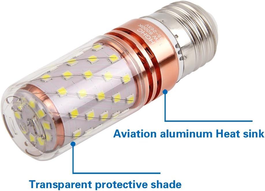 Bomnilla LED E27 12W Equivalente 100W incandescente bombillas, 6000K blanco frío 1000LM AC85-265V, Lámpara de vela decorativa E27, 4 Piezas: Amazon.es: Iluminación