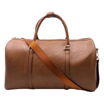 Weekend Travel Duffel Bag Waterproof Tote Weekender Bag Leather Overnight Bag Luggage Carry On Sports Bag Gym Bag