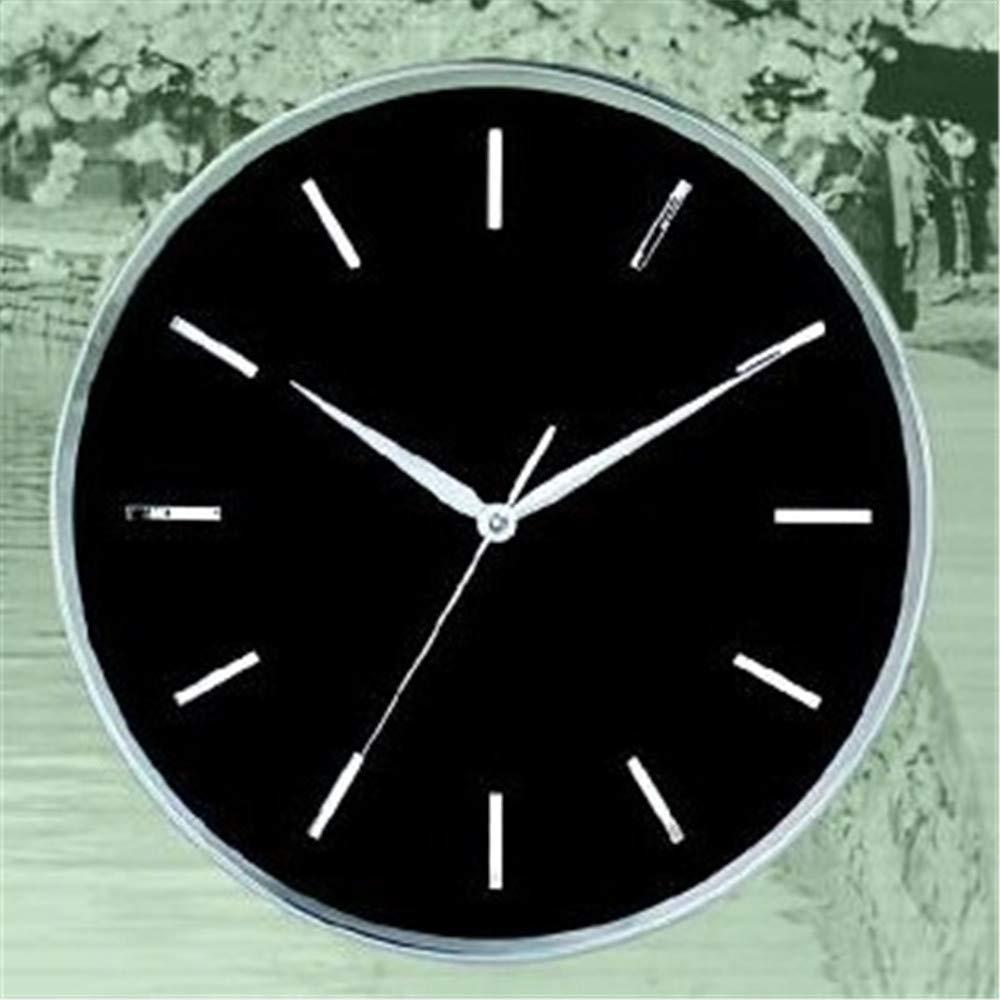 para proporcionarle una compra en línea agradable Guyuell Reloj De Parojo De Aluminio Aluminio Aluminio En Relieve Simple Escala De Metal Reloj De Parojo Reloj De 12 Pulgadas De Cuarzo rojoondo  compras online de deportes
