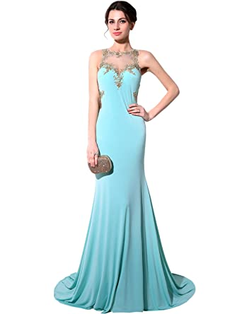 Clearbridal Womens Chiffon Prom Evening Dresses Sky Blue CSY004: Amazon.co. uk: Clothing