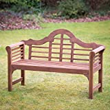 Solid Wood Garden Furniture Plant Theatre Lutyens Hardwood Garden Bench