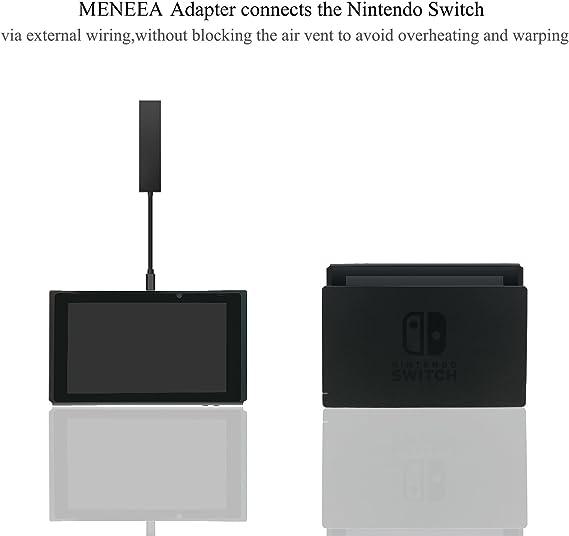 MENEEA HDMI Tipo C Hub Adaptador para Nintendo Switch[Actualizado], 5 en 1 Hub HDMI Convertidor Dock Cable para Nintendo Switch, estación de acoplamiento de repuesto con puerto Ethernet.: Amazon.es: Electrónica