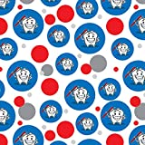 Happy Tooth Toothbrush Dentist Premium Gift Wrap Wrapping Paper Roll