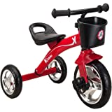 Kiddo Red 3 Wheeler Smart Design Kids Child Children Trike Tricycle Ride-On Bike 2-5 Years New (Red)